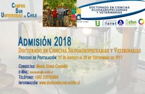 Admisión Doctorado CSAV UChile para 2018
