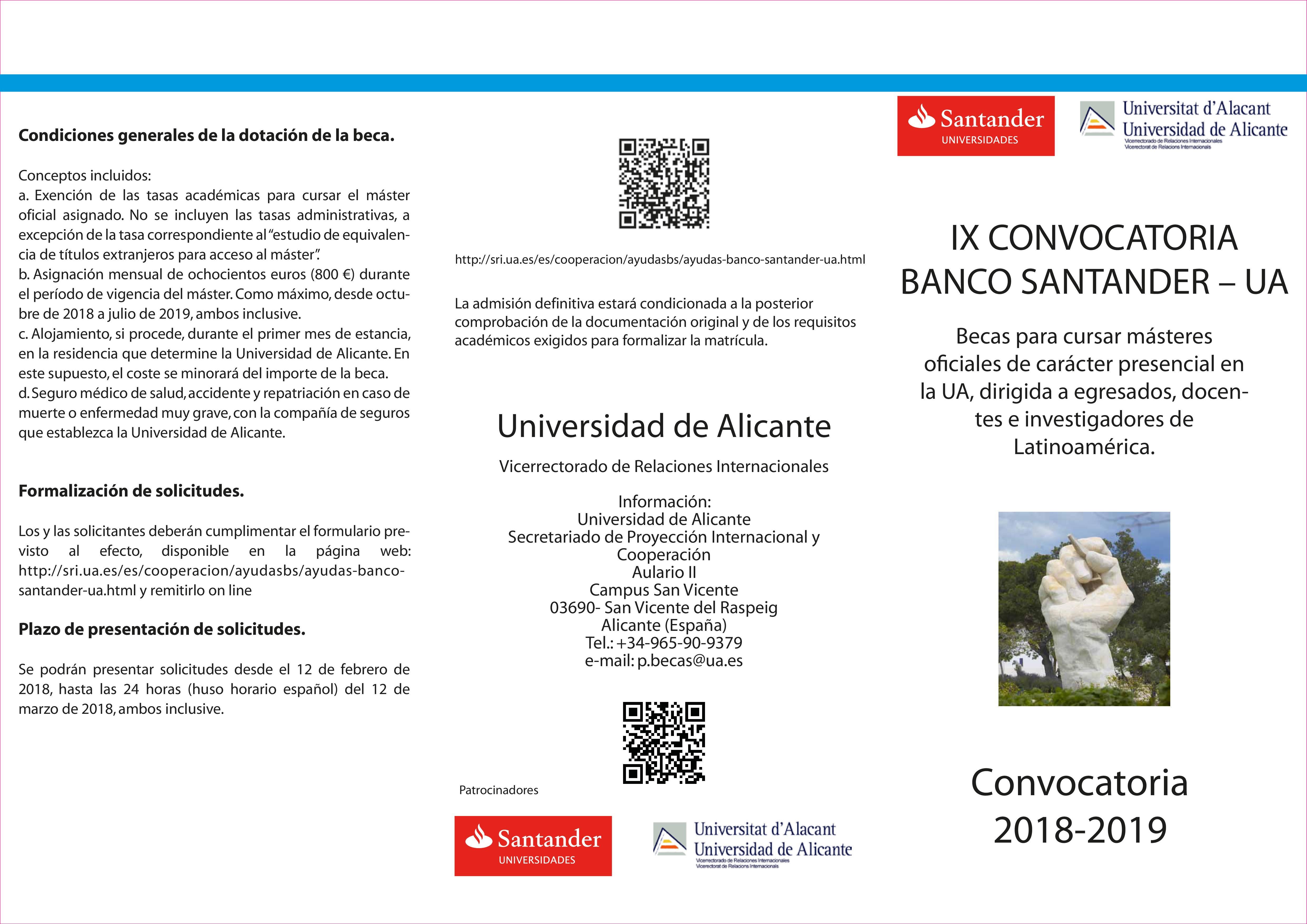 Triptico Banco Santander 2018-1