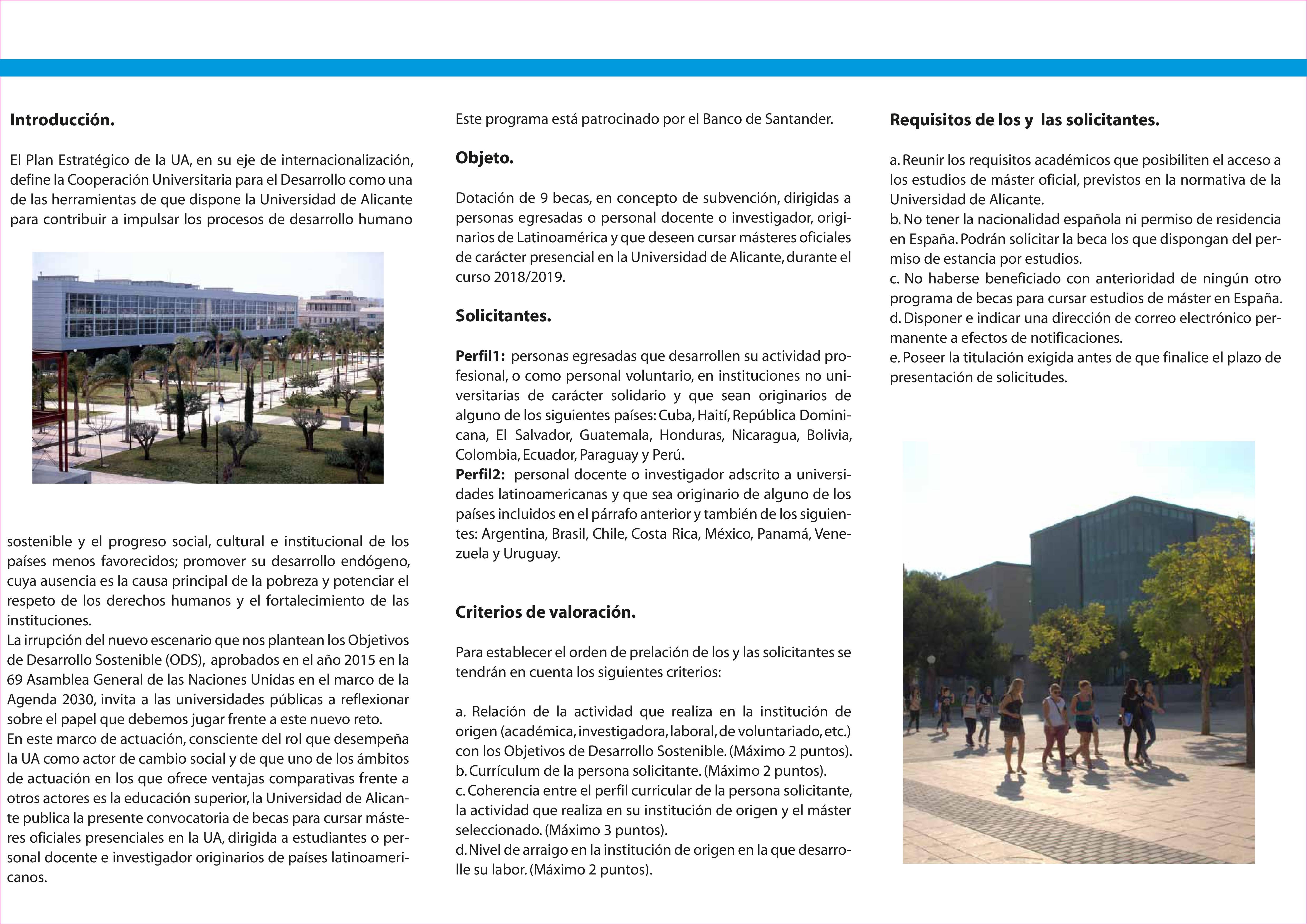 Triptico Banco Santander 2018-2